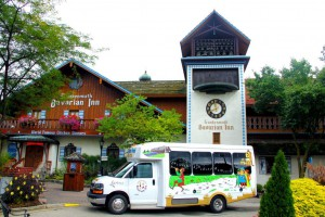 Bavarian Inn's new bio-diesel shuttle runs on the recycled cooking oil used to cook its famous Frankenmuth chicken dinners.