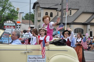 Dorothy Zehnder at parade C