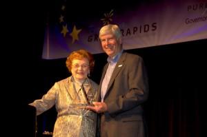 Dorothy Zehnder and Michigan Governor Snyder
