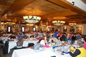 Scrapbooking in Bavarian Inn Restaurant Family Crest Room