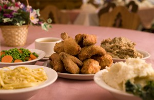 The Bavarian Inn's family-style chicken dinner is just one of more than 30 delicious chicken dishes served at the inn.
