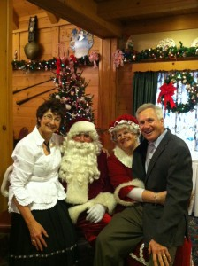 Bill and Karen Zehnder with Mr. and Mrs. Santa Claus